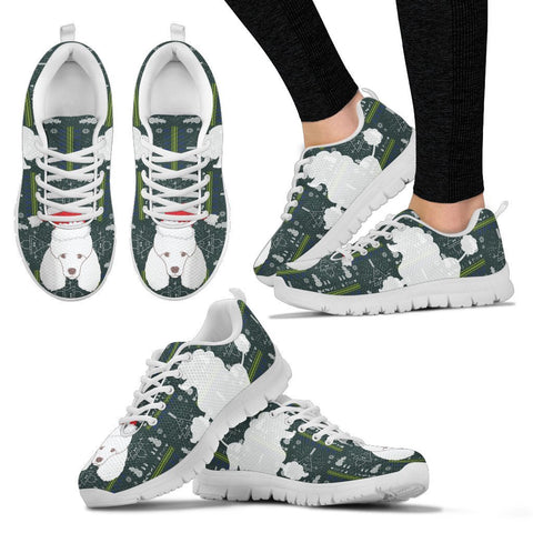 Cute Poodle Dog Print Christmas Running Shoes For Women-Free Shipping