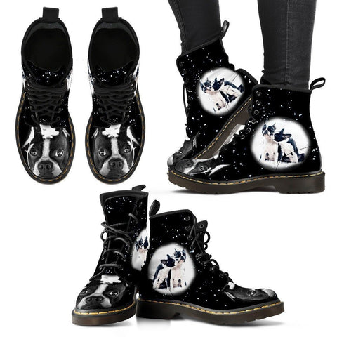 Boston Terrier Boots For Women- Express Shipping