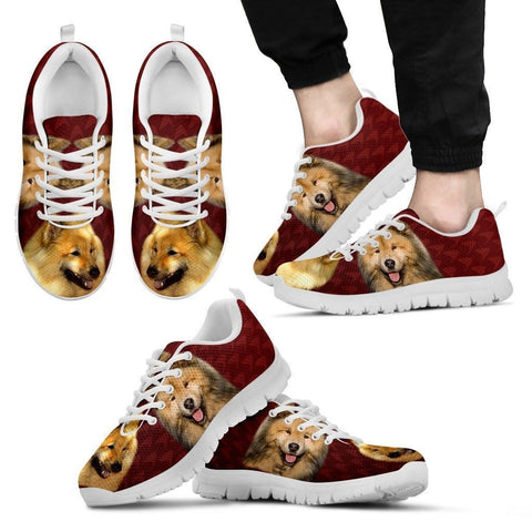 Eurasier Dog Print (White/Black) Running Shoes For Men-Express Shipping