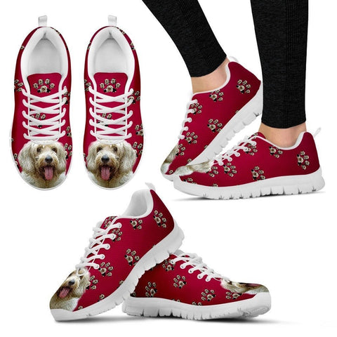 Petit Basset Griffon Vendeen Dog Print (White/Black) Running Shoes For Women- Express Shipping