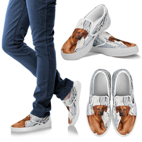 Rhodesian Ridgeback Dog Print Slip Ons For Women-Express Shipping