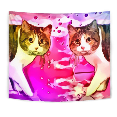 Manx Cat Print Tapestry-Free Shipping