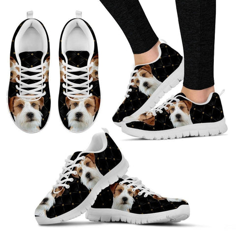 Customized Dog Print Running Shoes For Women-Free Shipping-Designed By Tania Vachaud