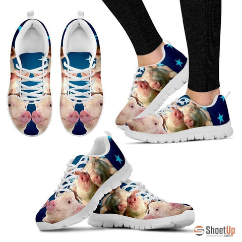 Pink Pig Running Shoes For Women-Free Shipping