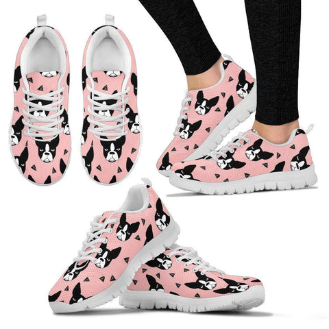 Boston Terrier Pattern Print Sneakers For Women