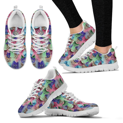 Cats Group Christmas Print Running Shoes For Women-Free Shipping