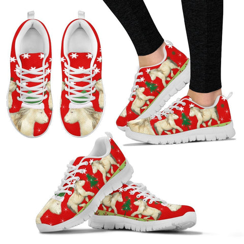 American Miniature Horse Print Christmas Running Shoes For Women-Free Shipping