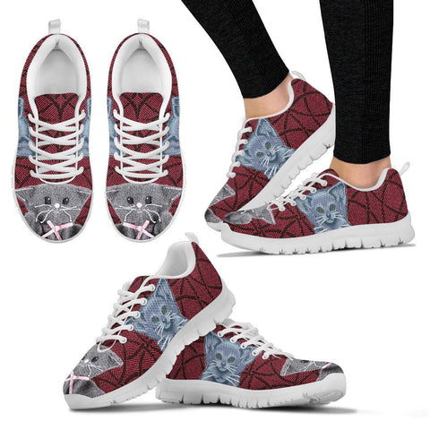 Russian Blue Christmas Running Shoes For Women- Free Shipping