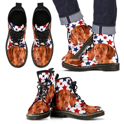 Vizsla Print Boots For Men-Express Shipping