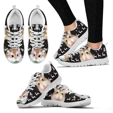 Roborovski Dwarf Hamster(Desert Hamster) Print Christmas Running Shoes For Women- Free Shipping