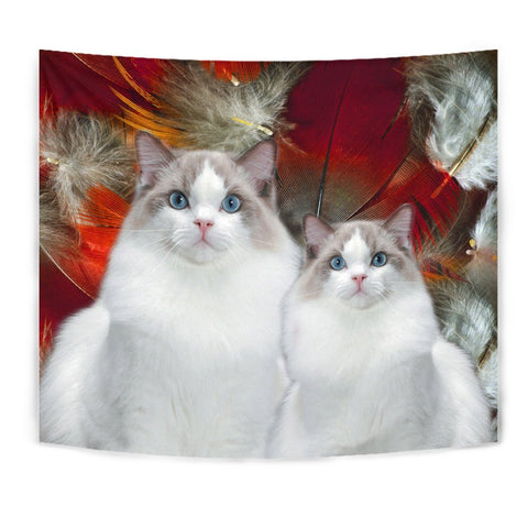Cute Ragdoll Cat Print Tapestry-Free Shipping