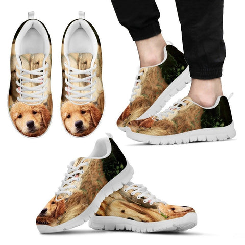 Golden Retriever Print Running Shoe Men - Free Shipping