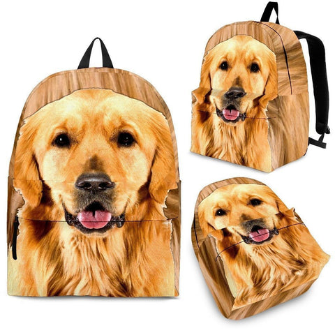 Golden Retriever Print BackPack - Express Shipping