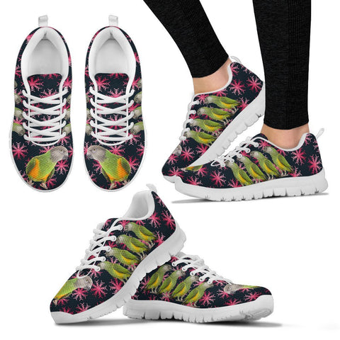 Senegal Parrot Print Christmas Running Shoes For Women-Free Shipping