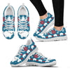 Large White pig Print Christmas Running Shoes For Women-Free Shipping