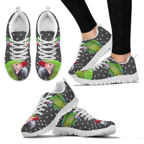 Military Macaw Parrot Print Christmas Running Shoes For Women-Free Shipping