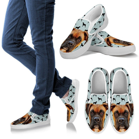Boxer Print Slip Ons For Women- Express Shipping