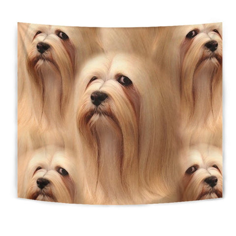 Lhasa Apso Dog Print Tapestry-Free Shipping