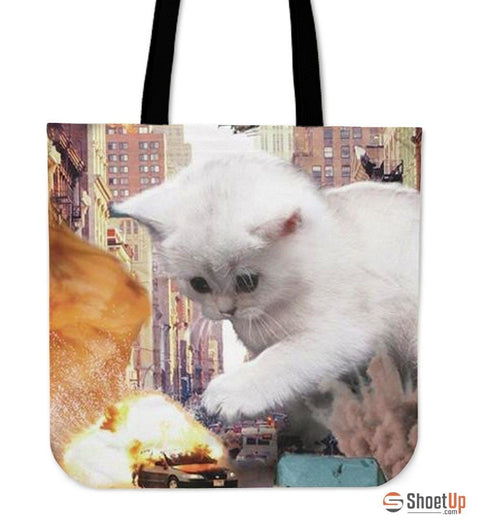 Cat-Tote Bag-3D Print-Free Shipping
