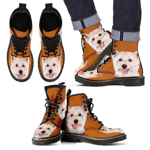 West Highland White Terrier Print Boots For Men-Express Shipping