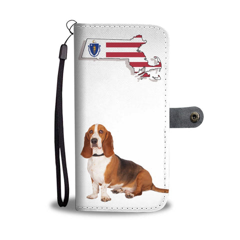 Basset Hound Print Wallet Case-Free Shipping-MA State
