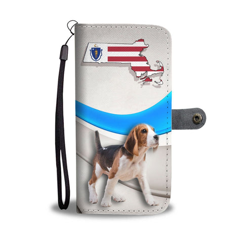 Beagle Dog Print Wallet Case-Free Shipping-MA State