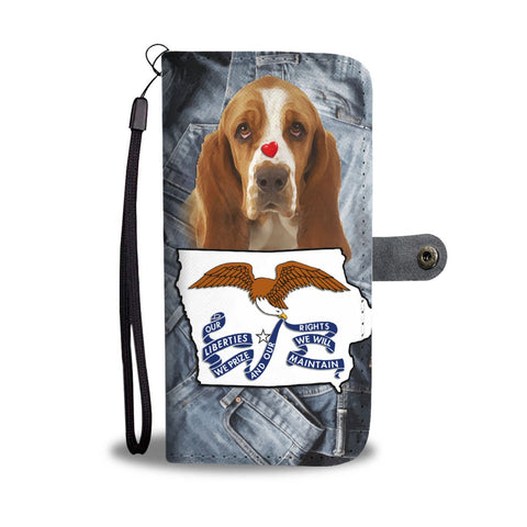 Basset Hound Print Wallet Case-Free Shipping-IA State