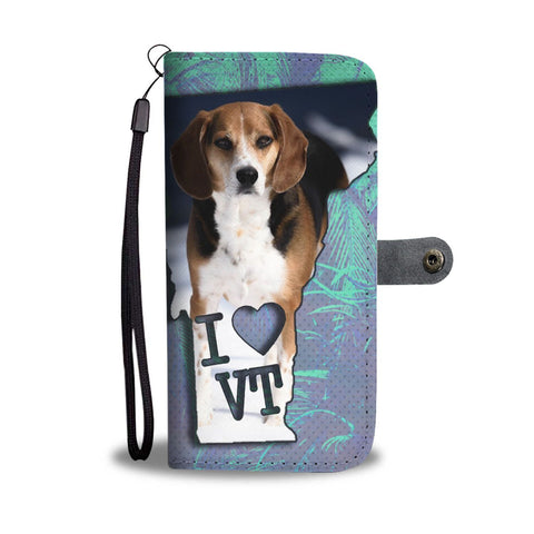 Beagle Dog Print Wallet Case-Free Shipping-VT State