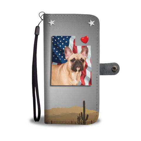 French Bulldog Print Wallet Case-Free Shipping- UT State
