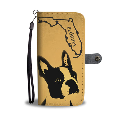 Awesome Boston Terrier Art Print Wallet Case-Free Shipping-FL State