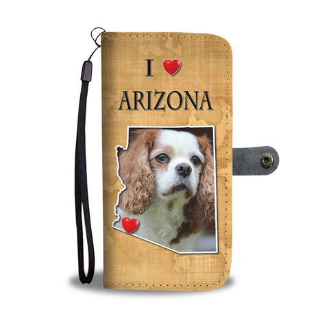 Lovely Cavalier King Charles Spaniel Print Wallet Case-Free Shipping-AZ State