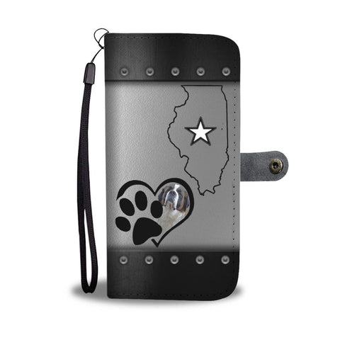 Saint Bernard Dog Print Wallet Case-Free Shipping-IL State
