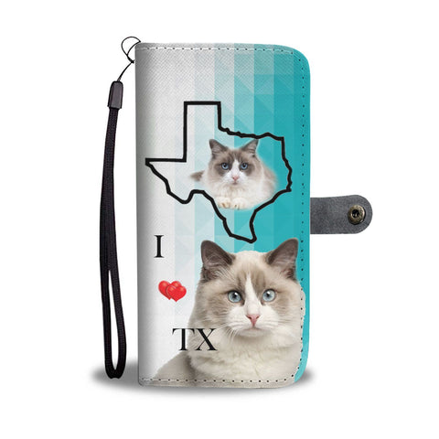 Ragdoll Cat Print Wallet Case-Free Shipping-TX State