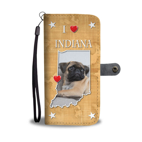 Cute Pug Dog Print Wallet Case-Free Shipping-IN State