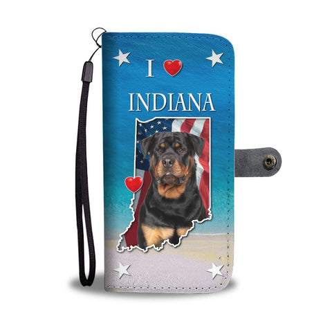 Lovely Rottweiler Dog Print Wallet Case-Free Shipping-IN State