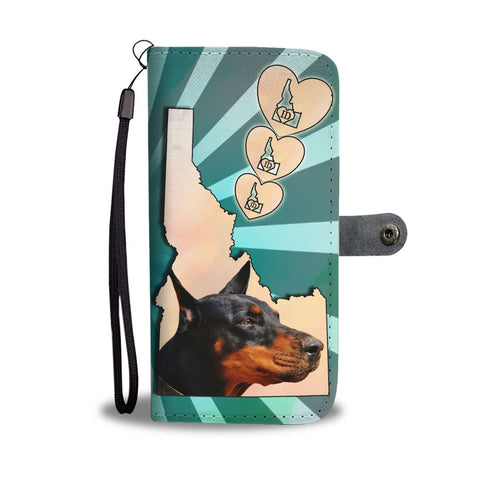 Doberman Pinscher Print Wallet Case-Free Shipping-ID State