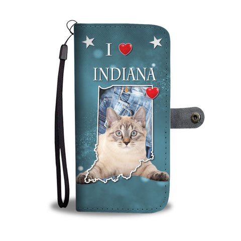 American Bobtail Cat Print Wallet Case-Free Shipping-IN State
