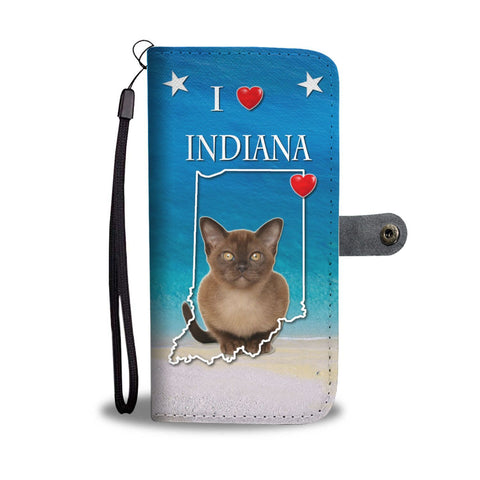 Burmese Cat Print Wallet Case-Free Shipping-IN State