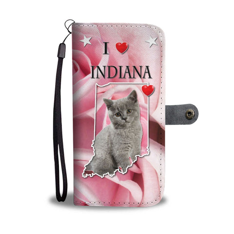 British Shorthair Cat On Pink Print Wallet Case-Free Shipping-IN State