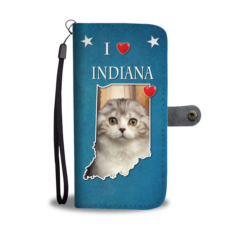 Scottish Fold Cat Print Wallet Case-Free Shipping-IN State