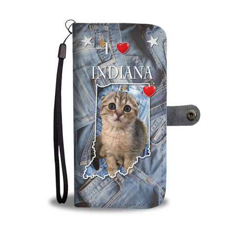 Cute Scottish Fold Cat Print Wallet Case-Free Shipping-IN State