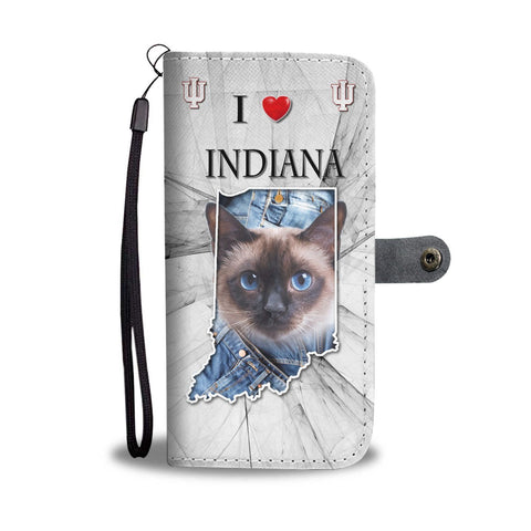 Siamese Cat Print Wallet Case Print-Free Shipping-IN State