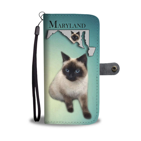 Balinese Cat Print Wallet Case-Free Shipping-MD State