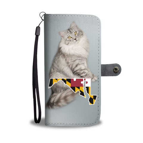 Siberian cat Print Wallet Case-Free Shipping-MD State