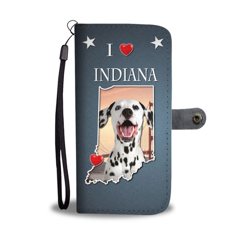 Cute Dalmatian Dog Print Wallet Case-Free Shipping-IN State