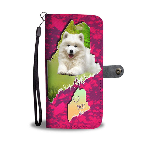 Cute Samoyed Dog Print Wallet Case-Free Shipping-ME State