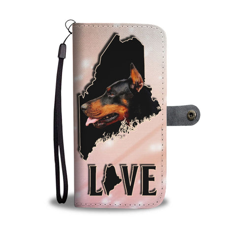 Doberman Pinscher Dog Print Wallet Case-Free Shipping-ME State