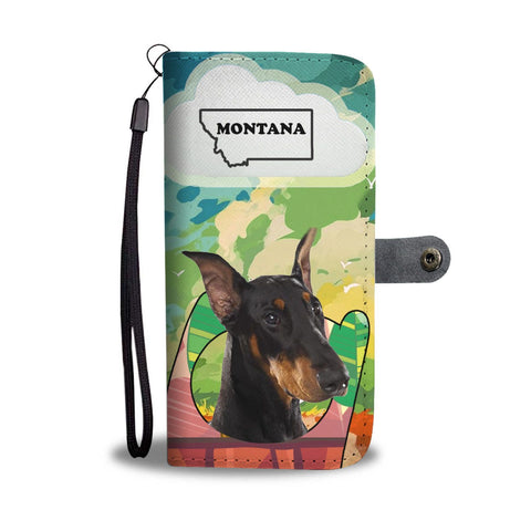 Doberman Pinscher Print Wallet Case-Free Shipping-MT State