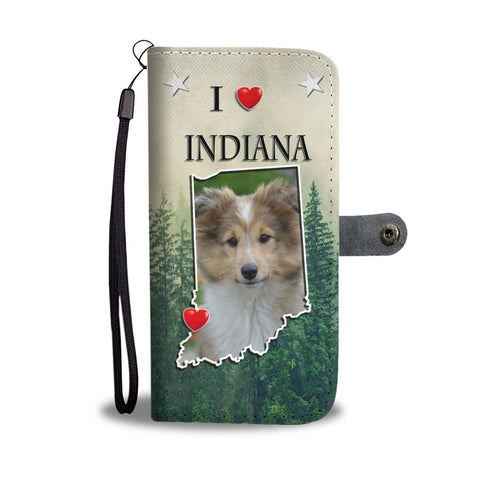 Shetland Sheepdog Print Wallet Case-Free Shipping-IN State