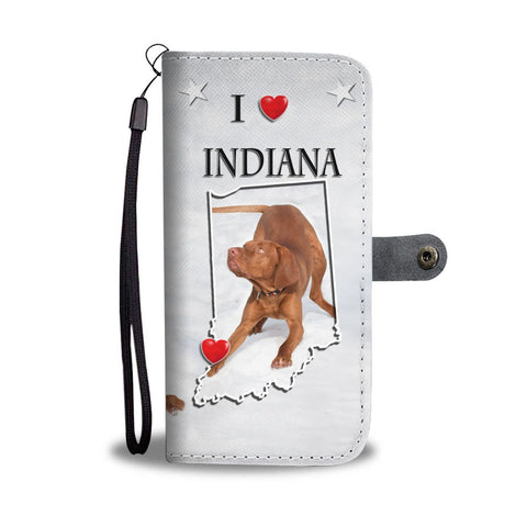 Lovely Vizsla Print Wallet Case-Free Shipping-IN State